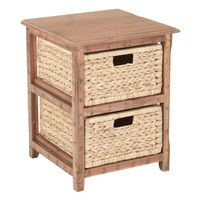 Sheridan Distressed Toffee 2-Drawer Storage