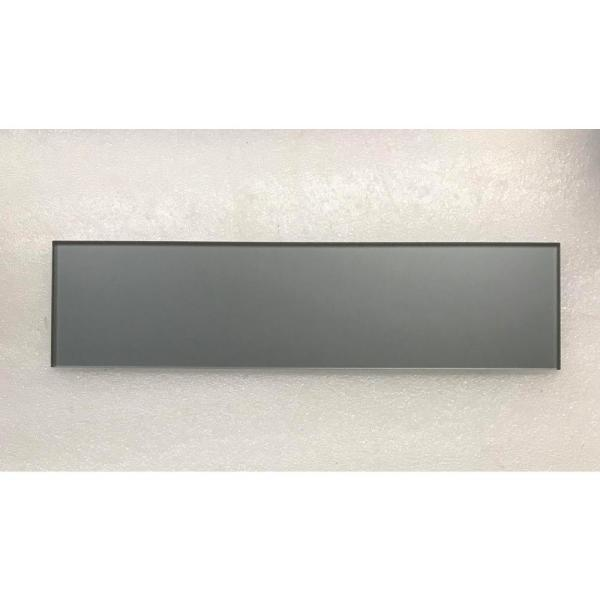 ABOLOS - Forever Royal Gray Subway 3 in. x 12 in. Metallic Matte Glass Wall Tile (4-Pack)