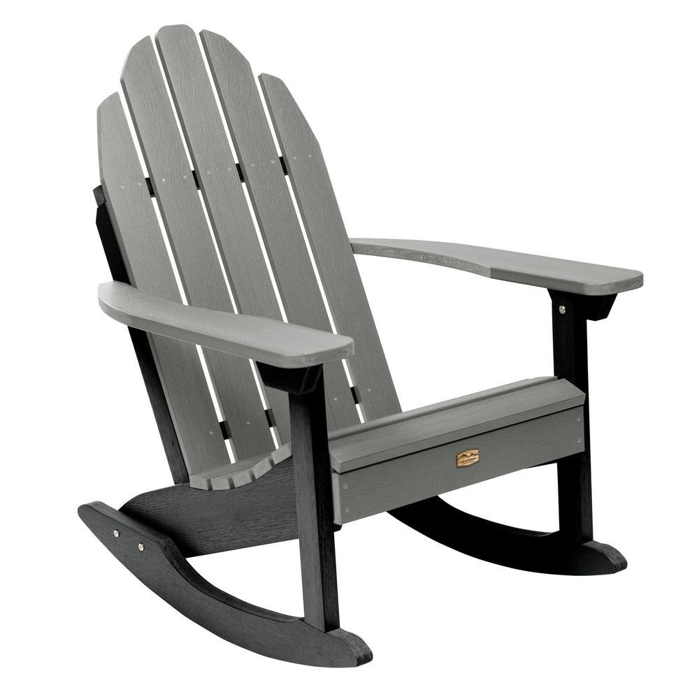 Surprising Highwood Weatherly Black Recycled Plastic Outdoor Rocking Ibusinesslaw Wood Chair Design Ideas Ibusinesslaworg