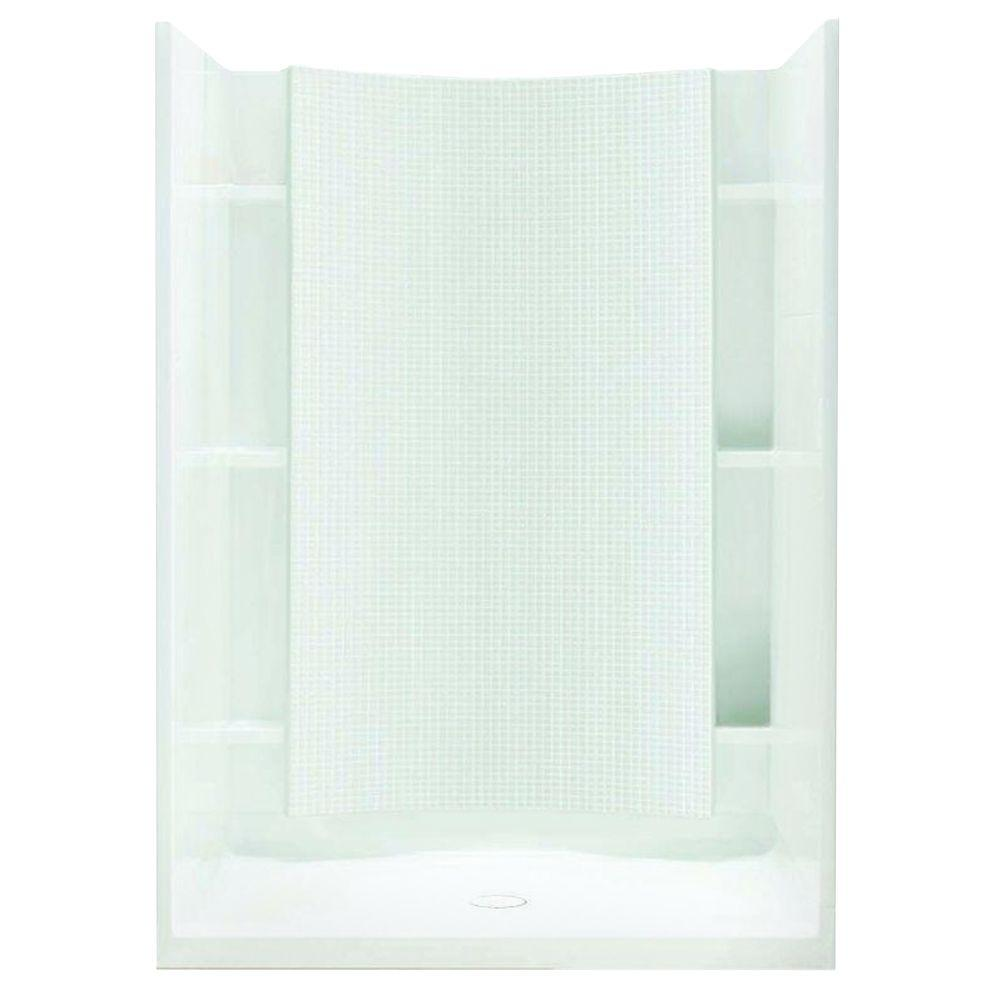 STERLING Accord 36 in. x 42 in. x 77 in. Shower Kit with Age-in ...