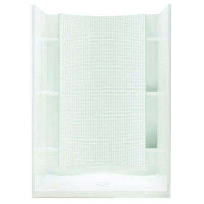 Accord 36 in. x 42 in. x 77 in. Shower Kit with Age-in-Place Backers in White