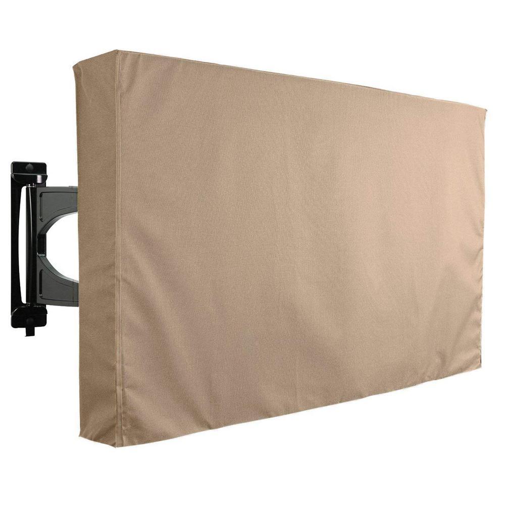 22 in. to 24 in. Brown Outdoor TV Universal Weatherproof Protector Cover