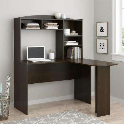 Sutton Espresso Desk with Hutch