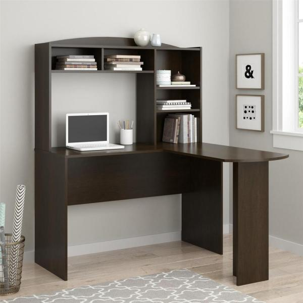 Ameriwood Gullberry Espresso Desk With Hutch Hd60874 The Home Depot