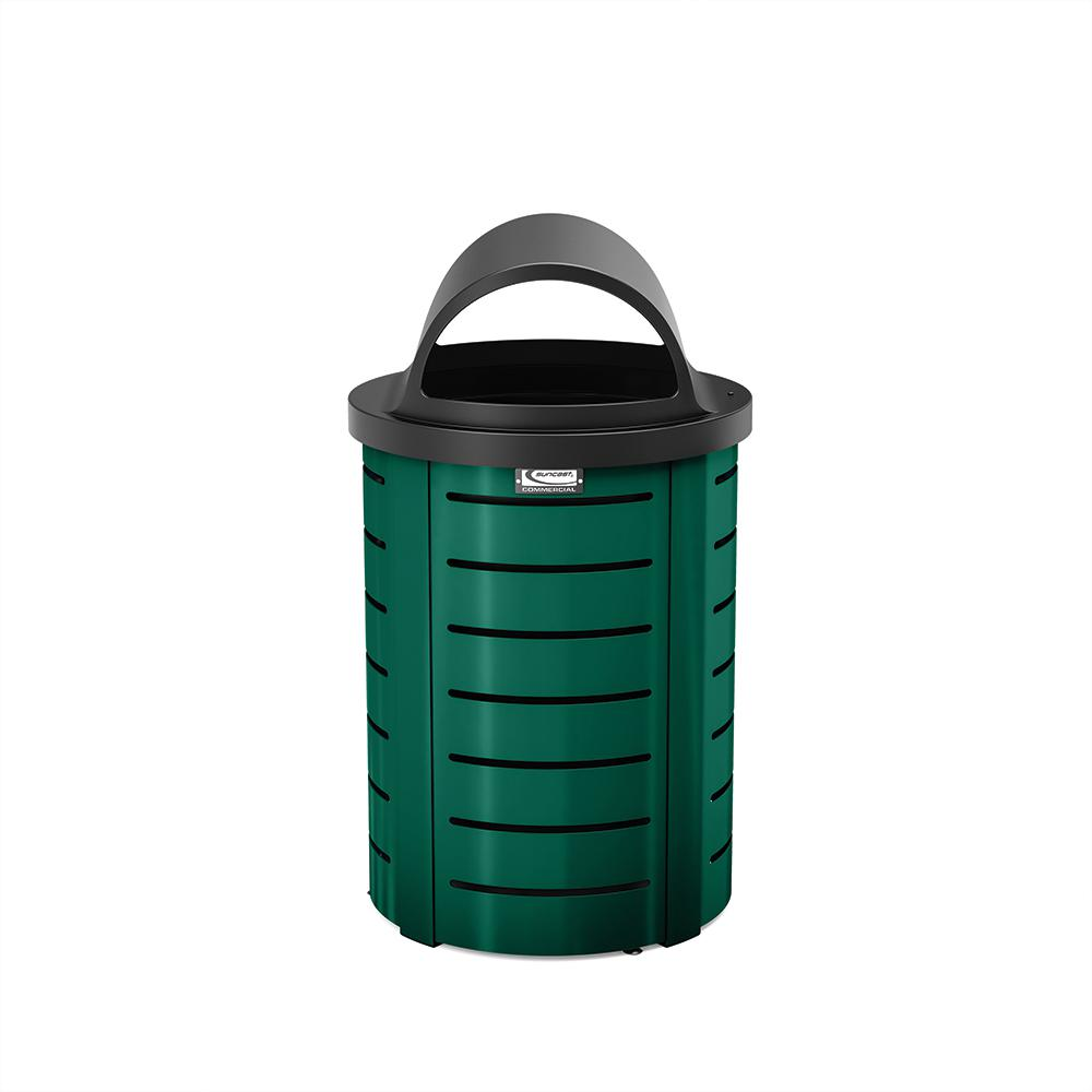 Suncast Commercial 35 Gal. Metal Touchless Outdoor Trash Can