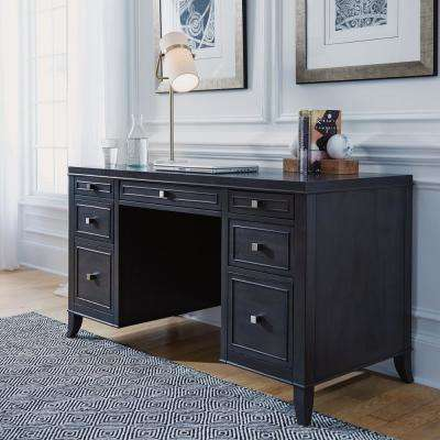 5th Avenue Gray Sable Executive Pedestal Desk