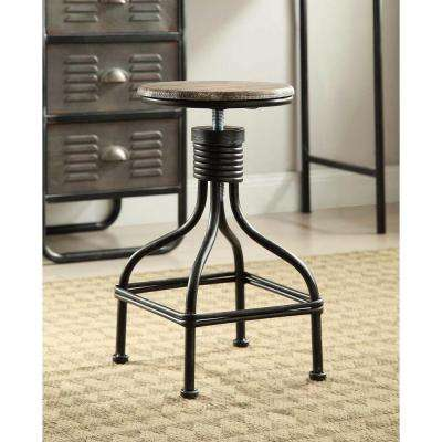 Locker 19.7 in. Black Swivel Bar Stool
