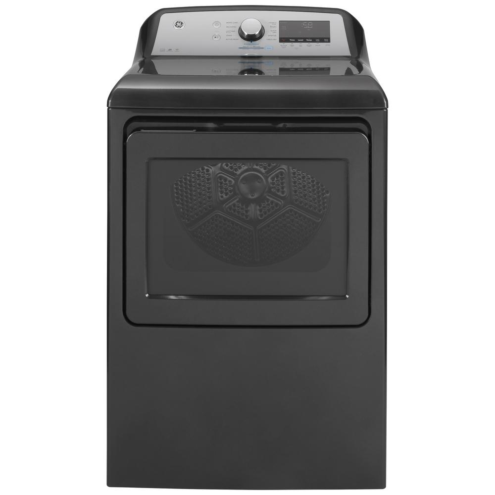GE 7.4 cu. ft. Smart 120-Volt Diamond Gray Gas Dryer with Steam and Sanitize Cycle, ENERGY STAR
