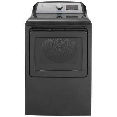 7.4 cu. ft. Smart 120-Volt Diamond Gray Gas Dryer with Steam and Sanitize Cycle, ENERGY STAR