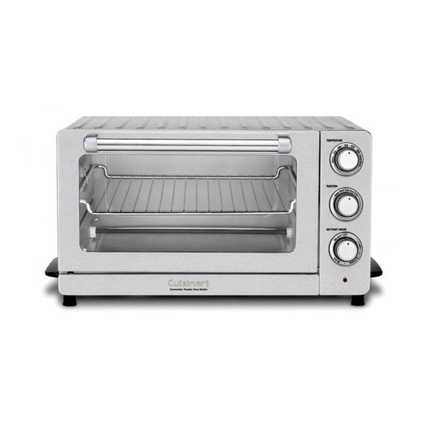 Cuisinart 1500 W 6-Slice Stainless Steel Toaster Oven with Broiler TOB-60N1