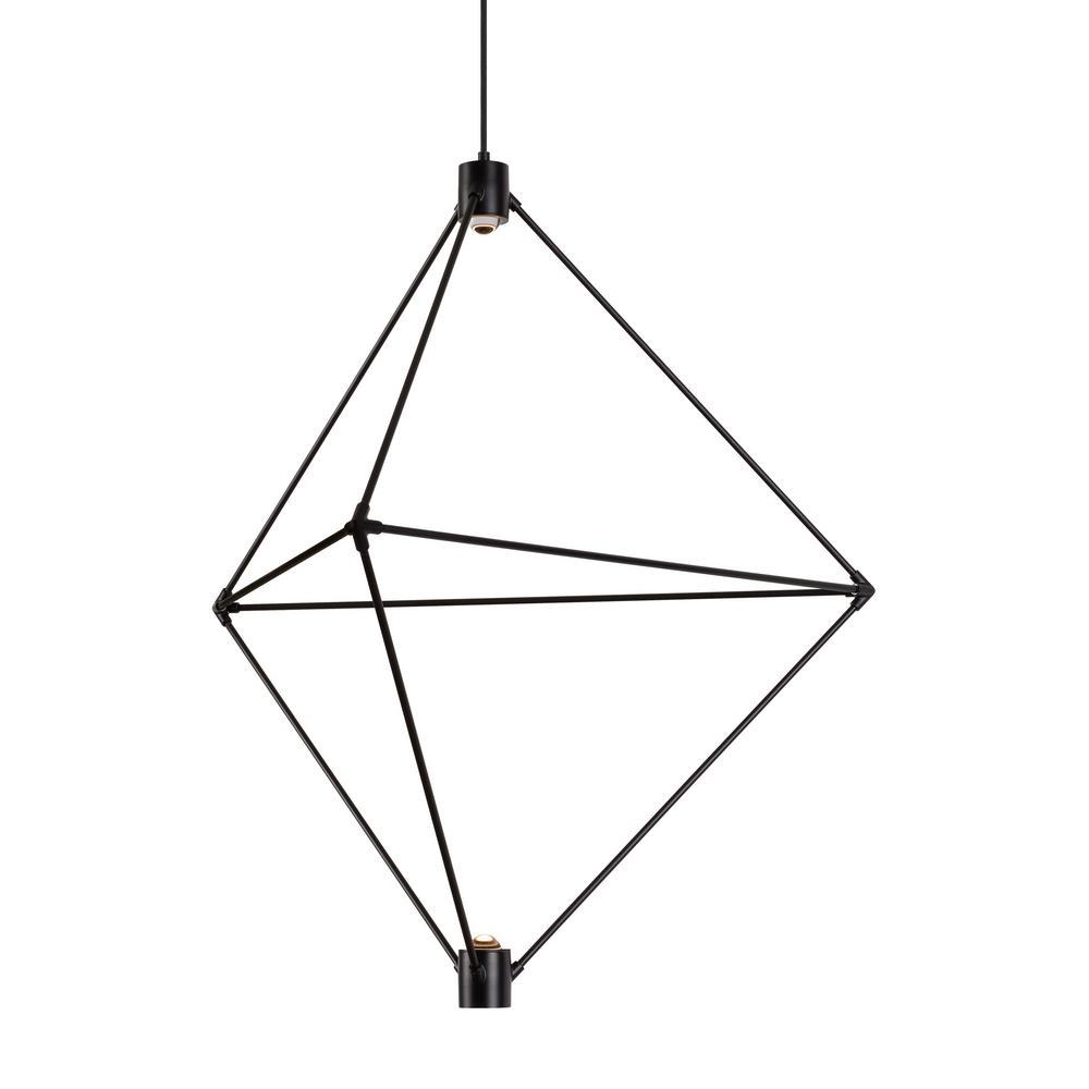 28dbde991d12 LBL Lighting Candora 2-Light Black LED Chandelier-CH948BLLEDWD - The ...