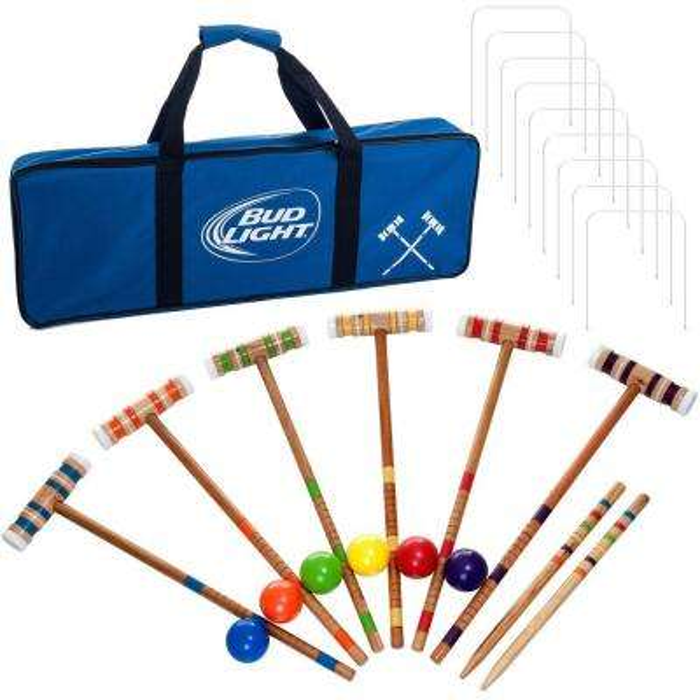 Bud Light 24-Piece 6 Player Croquet Set
