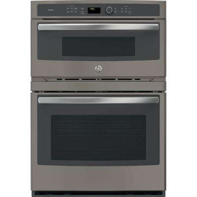 Profile 30 in. Electric Built-In Combination Convection Microwave Wall Oven in Slate, Fingerprint Resistant