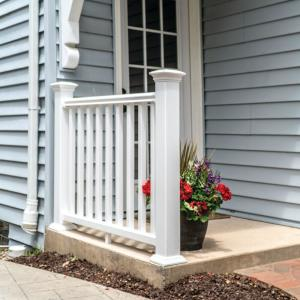 Veranda Traditional 6 Ft X 36 In White Polycomposite Rail Kit Without Brackets 73019412