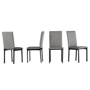 Prime Bedford Grey Faux Leather Dining Chair Set Of 2 Unemploymentrelief Wooden Chair Designs For Living Room Unemploymentrelieforg