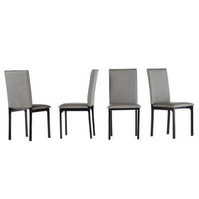 Bedford Grey Faux Leather Dining Chair (Set of 2)