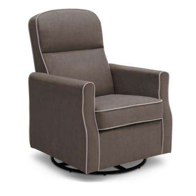 Graphite Dove Grey Welt Clair Glider Swivel Rocker Chair