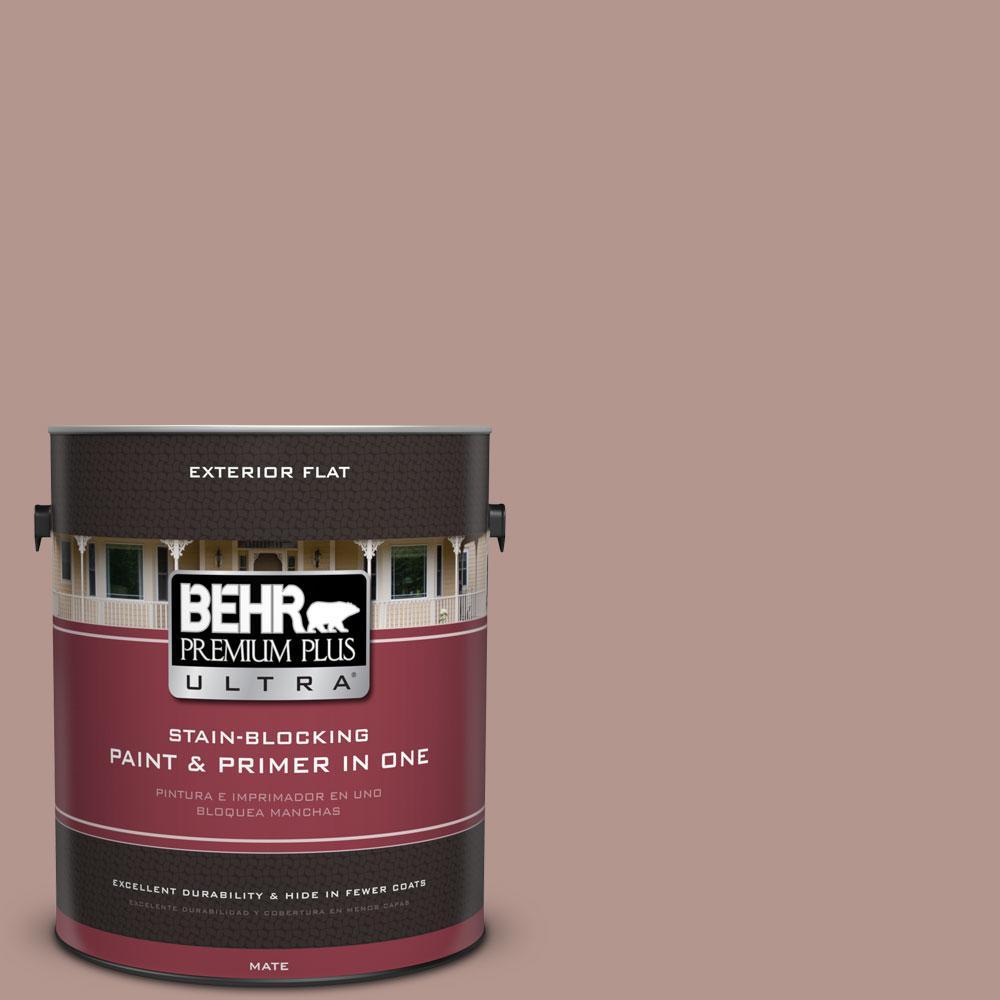 BEHR Premium Plus Ultra 1-gal. #N160-4 Sonora Rose Flat Exterior Paint