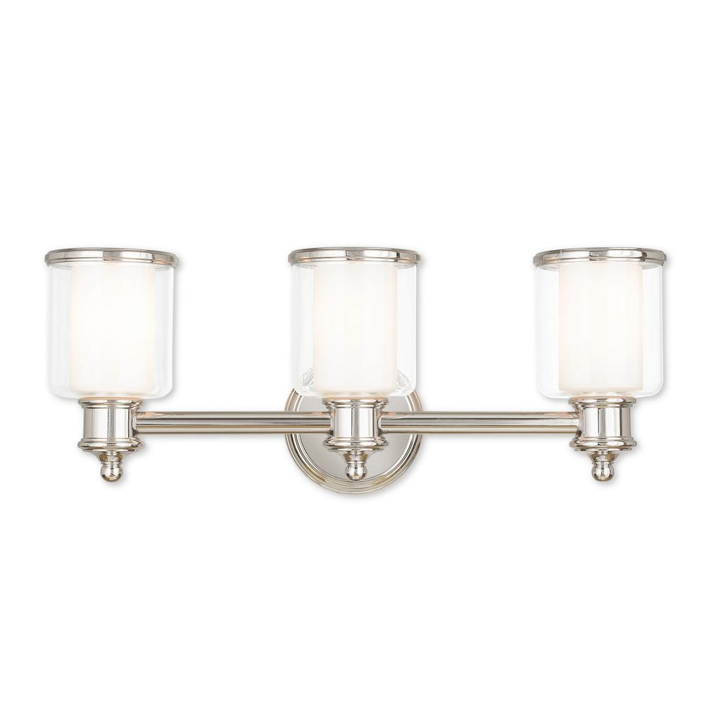 Livex Lighting Middlebush 3 Light Polished Nickel Bath Light