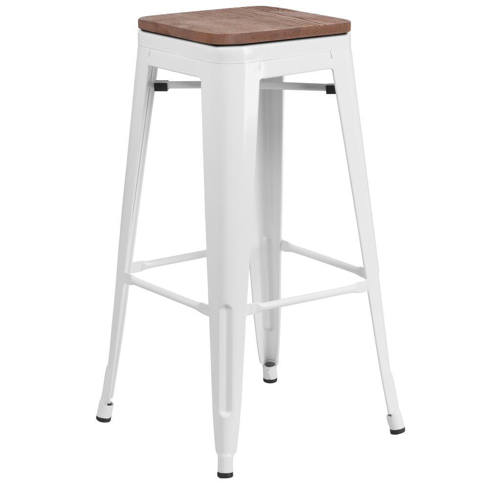 Flash Furniture White Bar Stool CGA-CH-249920-WH-HD