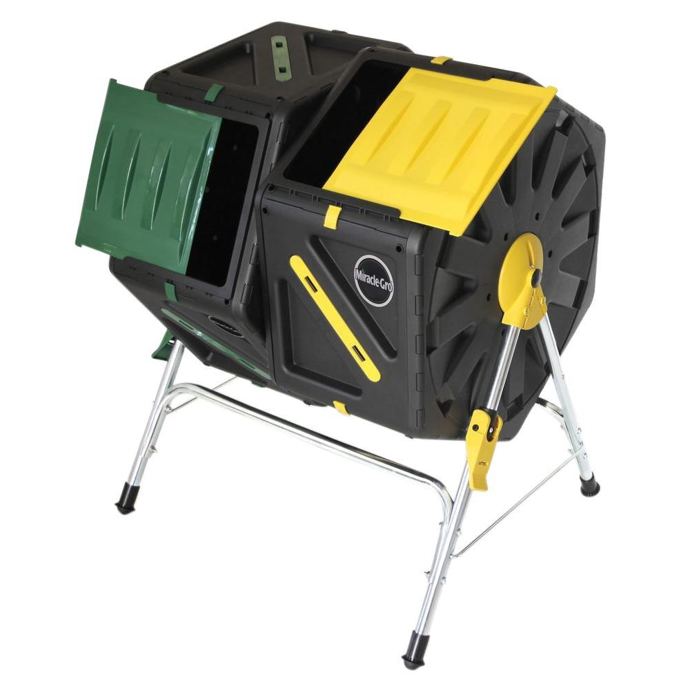 Miracle-Gro 37 Gal. Dual Chamber Tumbling Composter
