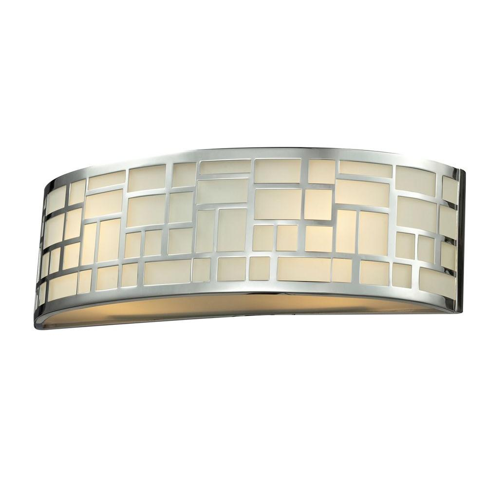 Velia 2-Light Chrome Bath Vanity Light