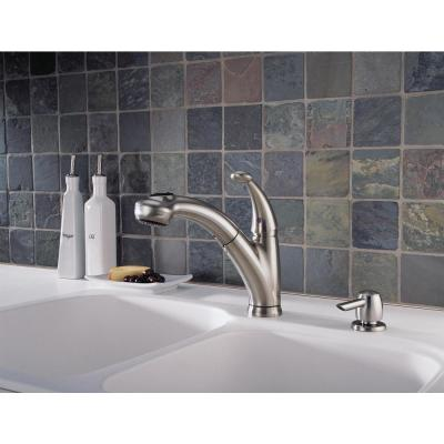 Cicero Single-Handle Pull-Out Sprayer Kitchen Faucet With Soap Dispenser In Stainless