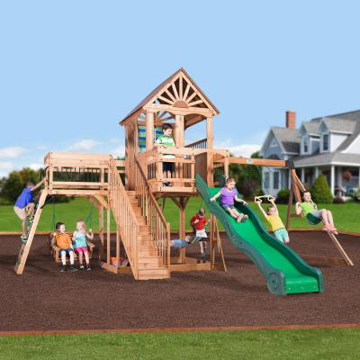 Caribbean All Cedar Swing Set