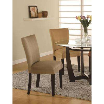 Castana Collection Taupe Parson Chair (Set of 2)