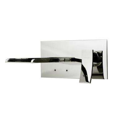 Vinyl Series 1-Handle Wall-Mount Color Change LED Roman Tub Faucet in Chrome