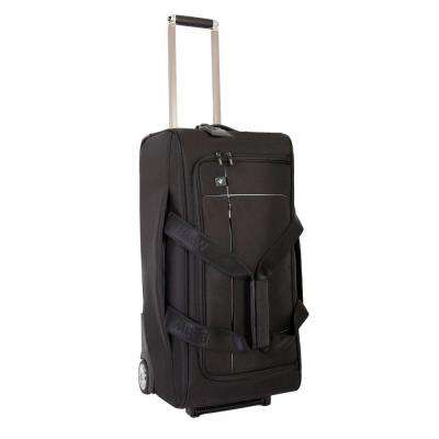 26 in. Black Wheeled Duffel Suitcase