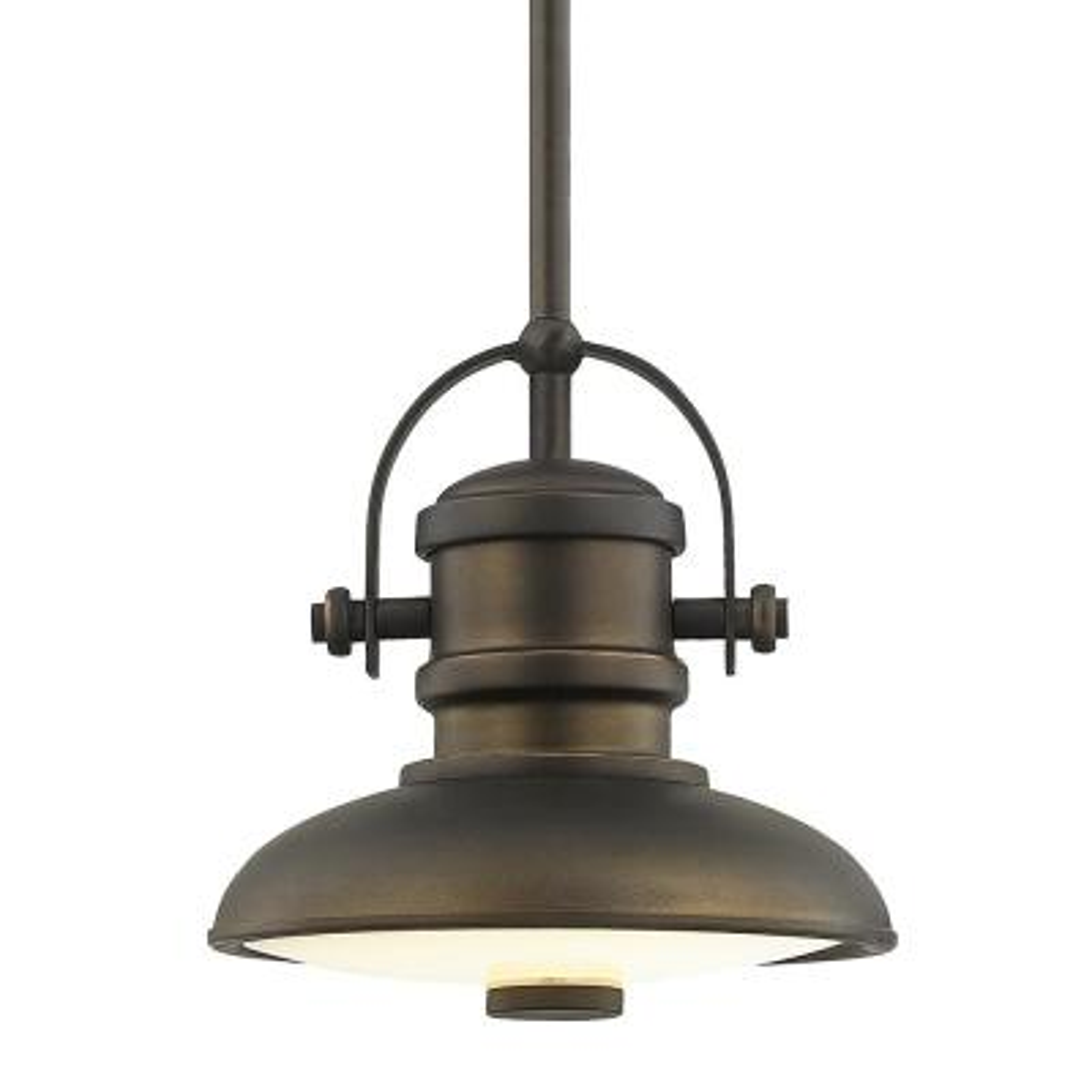 8 in. Aged Bronze LED Mini Pendant