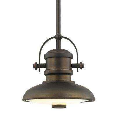 8 in. Aged Bronze LED Mini Pendant