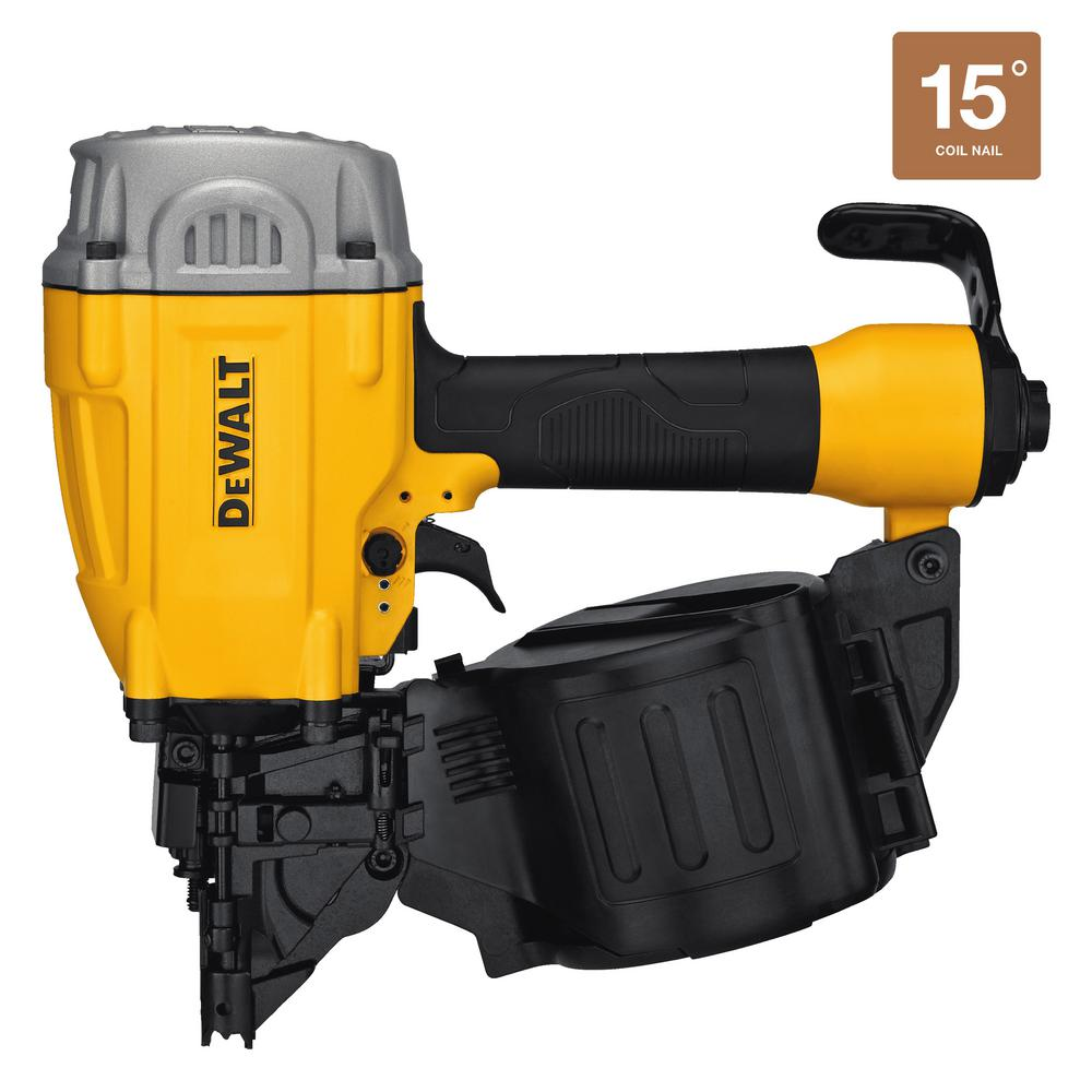 DEWALT Pneumatic 15° Coil Framing Nailer