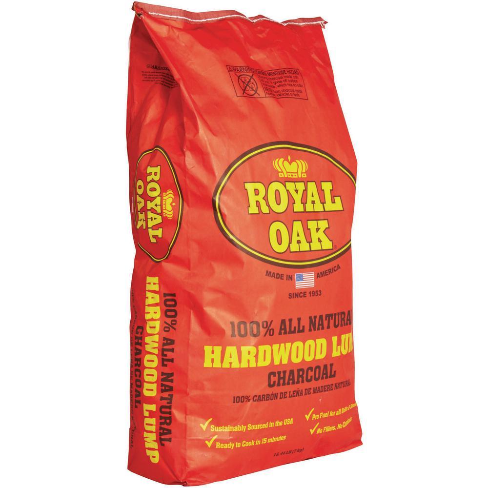 Royal Oak 15 44 Lb 100 All Natural Hardwood Lump Charcoal 198228021 The Home Depot