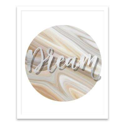 """17 in. x 21 in. """"Dream"""" by Nikki Chu Screen Print on Glass Shadowbox Framed Wooden Wall Art"""
