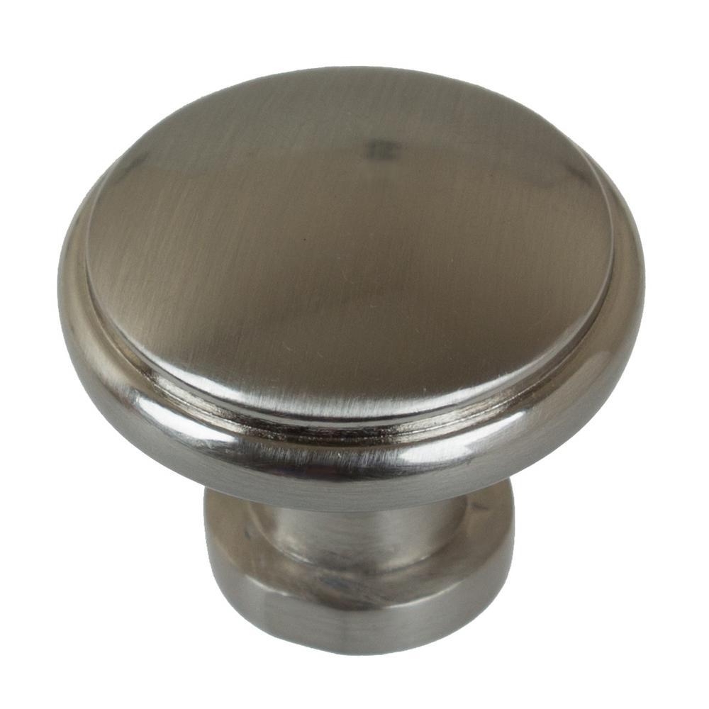 1-1/8 in. Dia Satin Nickel Round Ring Cabinet Knob (10-Pack)