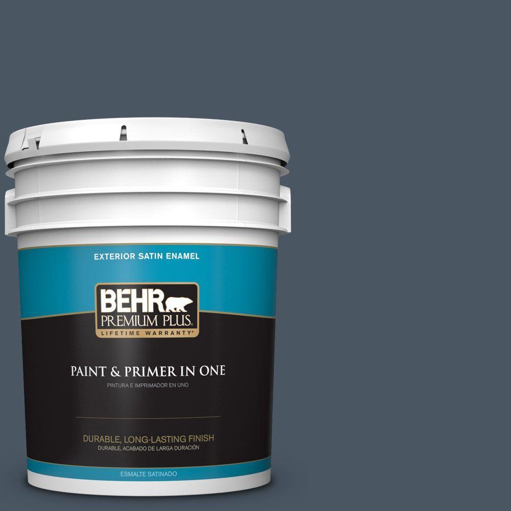 BEHR Premium Plus 5-gal. #T13-13 Flapper Dance Satin Enamel Exterior Paint