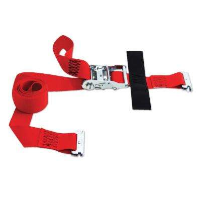 8 ft. x 2 in. Logistic E-Strap with Ratchet in Red