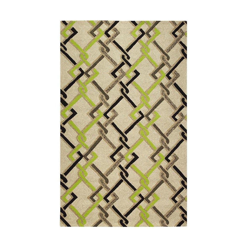 Home Decorators Collection Interlock Sand 8 ft. x 10 ft. Area Rug
