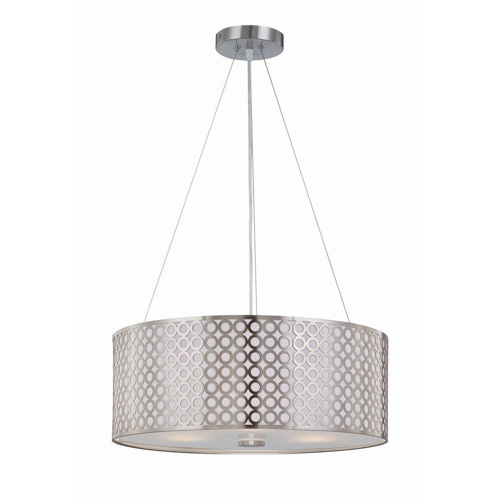 illumine rosetta 3 light polished steel pendant with cut