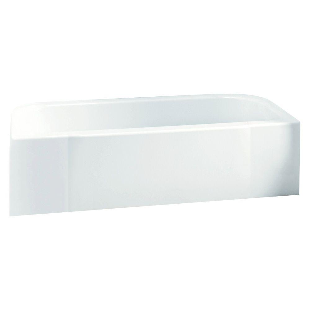 Accord 5 ft. Right Drain Rectangular Alcove Soaking Tub in White