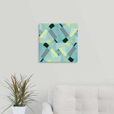 """Geo Stripes in Pale Teal"" by Lanie Loreth Canvas Wall Art"