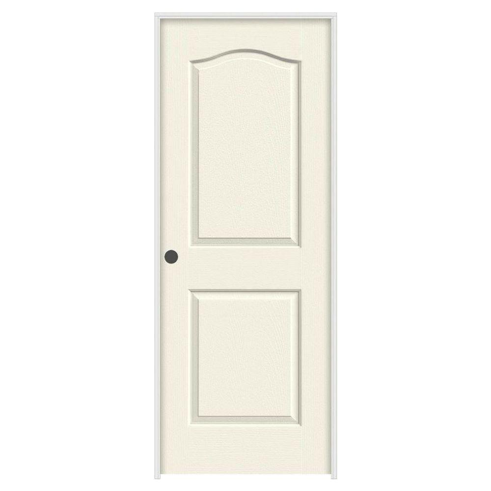 24 in. x 80 in. Camden Vanilla Painted Right-Hand Textured Solid