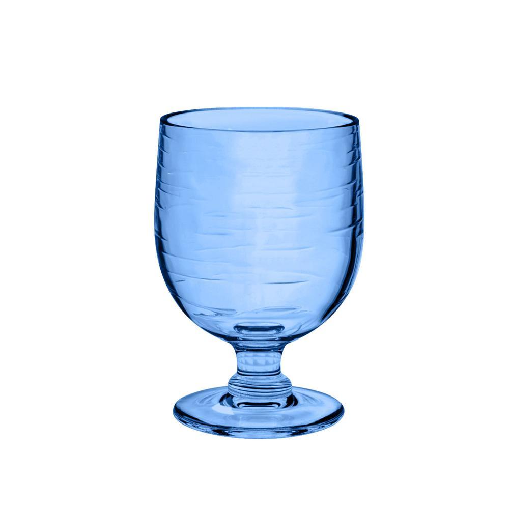 10.5 oz. 6-Piece Cordoba Soft Blue Stacking Goblet Set