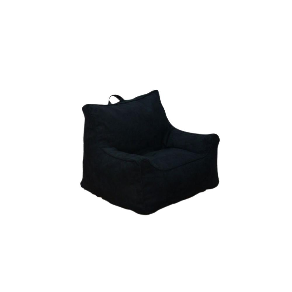 Black Microsuede Structured Bean Bag 9587801