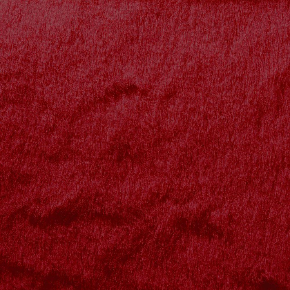 ALMA Dover Fur Dark Red 6 ft. 6 in. x Your choice Length Indoor ...