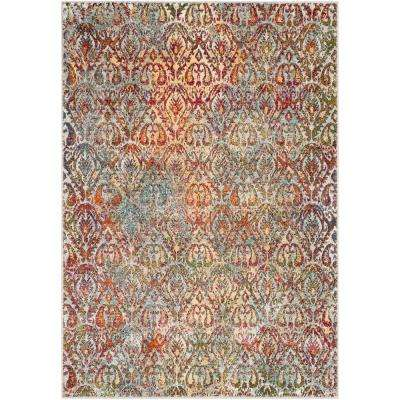 Caius Multi-color 5 ft. 3 in. x 7 ft. 3 in. Oriental Area Rug