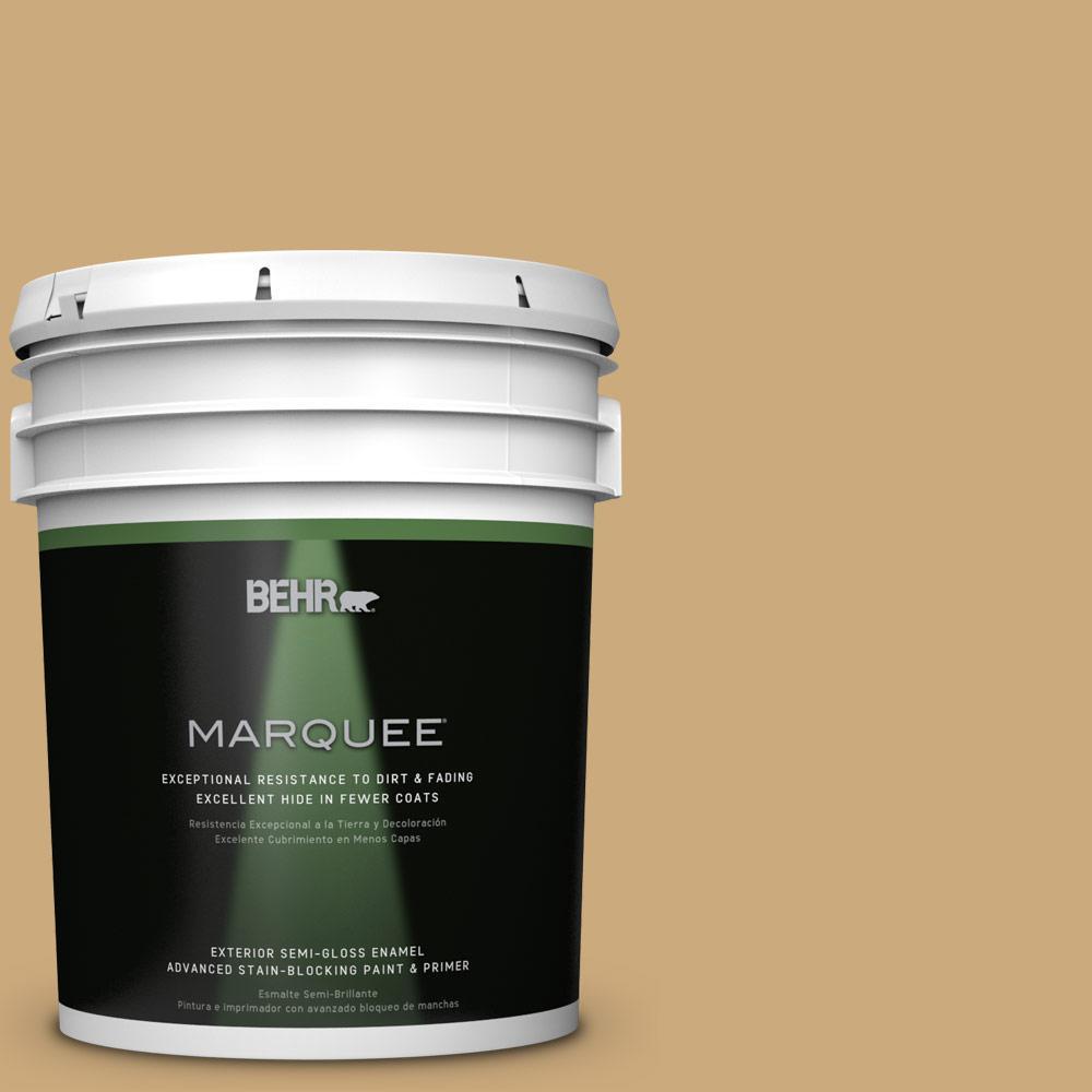 5-gal. #S300-4 Flax Straw Semi-Gloss Enamel Exterior Paint