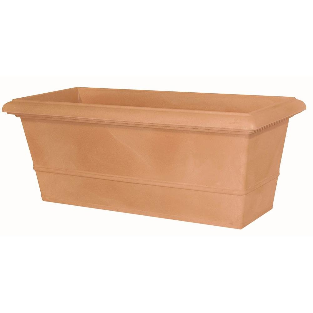 Marchioro 39.5 in. Terra Cotta Rectangle Planter Pot